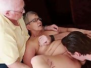 Mature couple young stud juices wife