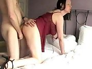 Lingerie sexy wife great ass hot load hot milf fours cum